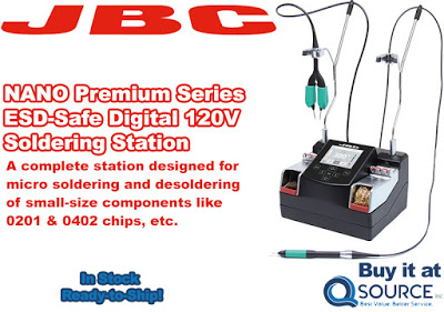 JBC NASE-1C NANO Premium Series ESD-Safe 120V Digital Soldering Station