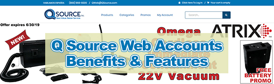 Q Source Web Account Benefits and Features