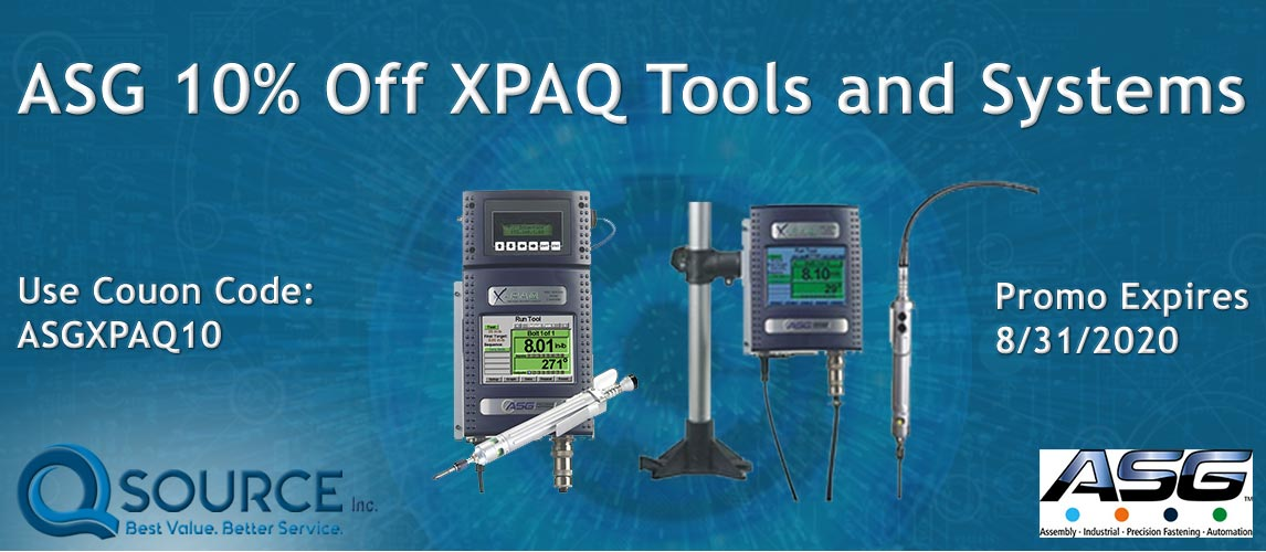 ASG 10% Off XPAQ Tools and Systems